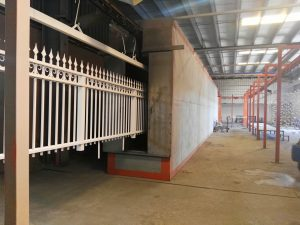 quality decoration powder coating heating curing